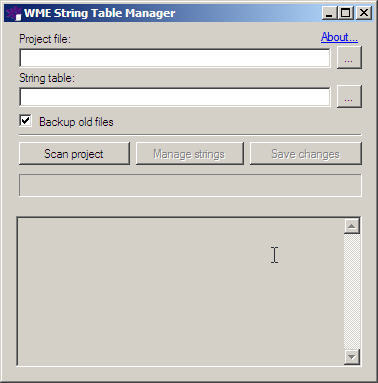 String table manager