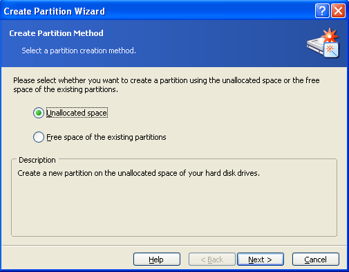 create partion wizard