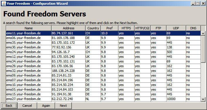 Found Freedom servers