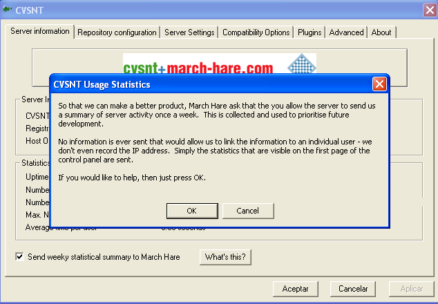Usage statistics question