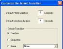 transition setting window