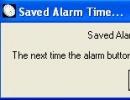 Saved alarm time