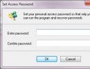 Set access password