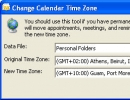 Change calendar time zone window