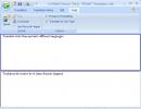 Promt translator window