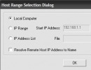 IP selection range dialog