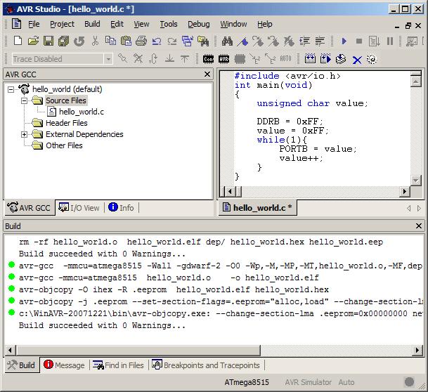 AVR Studio screenshot