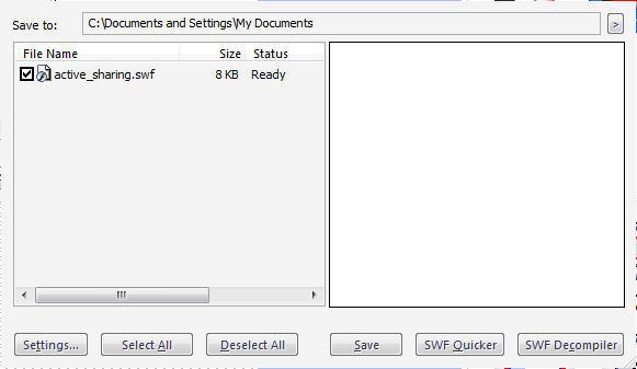 Sothink SWF Catcher Main Interface