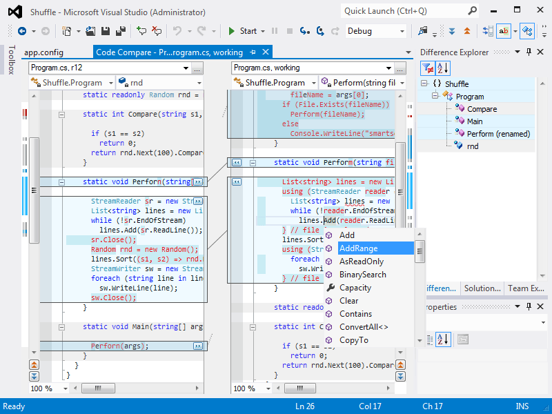 Visual Studio 2012 Intergration