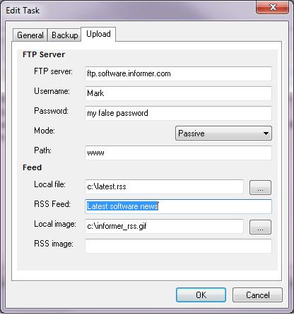 Upload settings