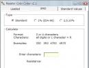 E-series standard values