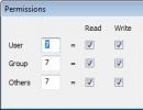 File Permissions Setting Window