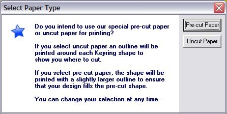 Select paper type