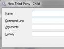 Third Party shortcut