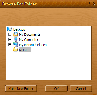 Browse for folder