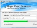 Removing vocals.