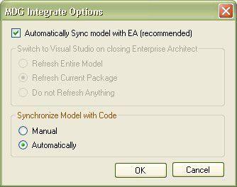 MDG integrate options