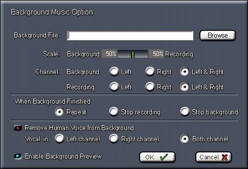 Background Music Option