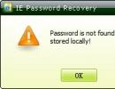 Password not found