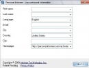 Customizing personal details