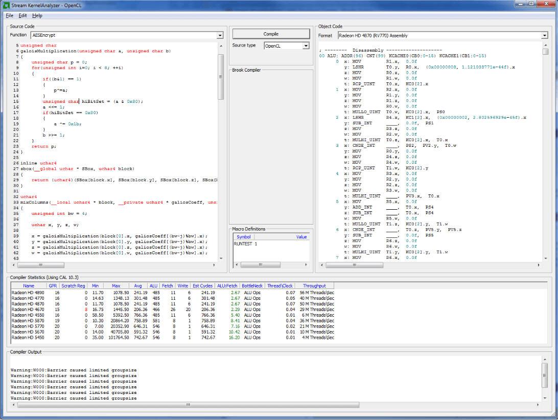 Stream KernelAnalyzer