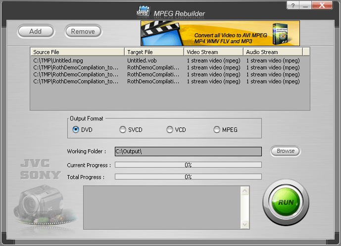 Load Your JVC And Sony Video Files
