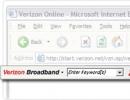 Verizon Toolbar screenshot