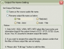 Output File Name Settings