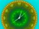 2D Gold Clock