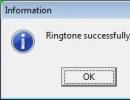 Ringtone Created