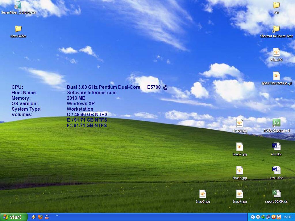 Windows desktop (before SevenMizer)