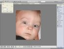 The program has a useful red-eye effect removal tool