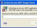 Unlock Access MDE Design