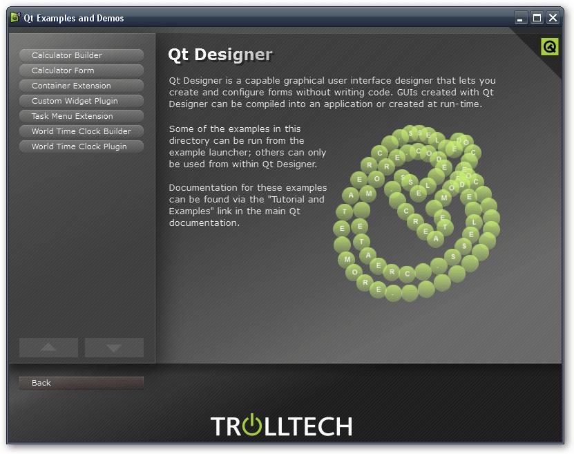 Sample application in QT