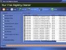 Program showing the error-causing registry entries.