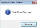 Split video success