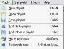Playlist menu