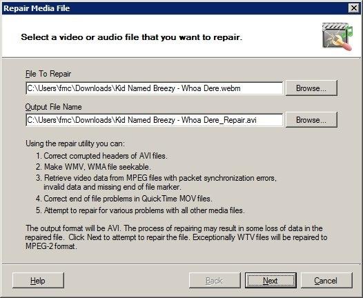 Repair Media File