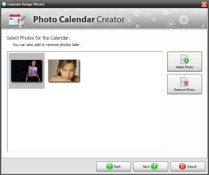 Selecting photos