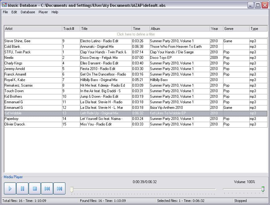 Music Database Manager