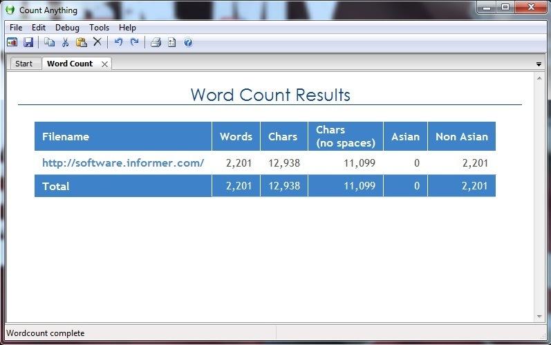 URL Word Count