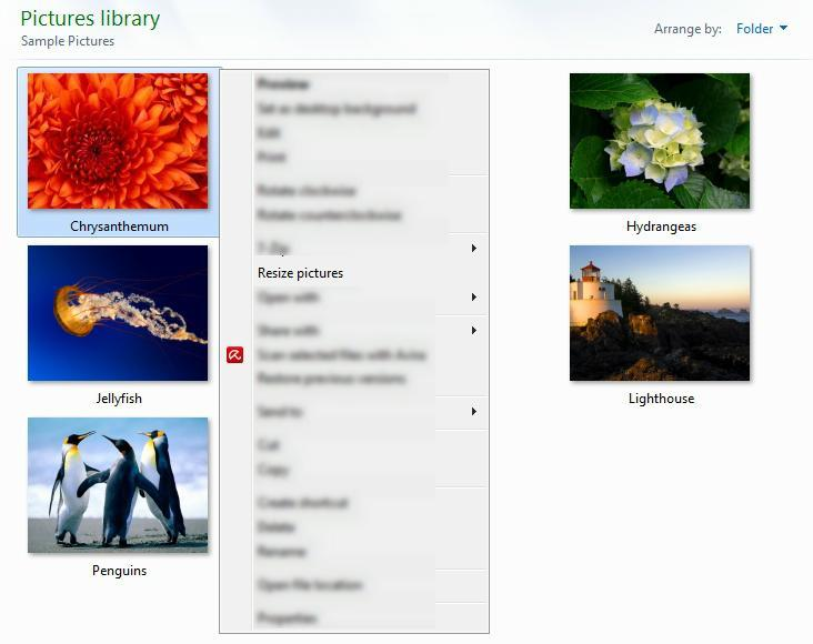 Utility in the Context Menu
