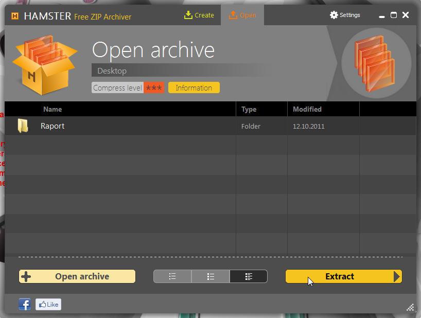 Open Archive Window