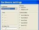 Hardware settings