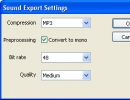 Sound export settings