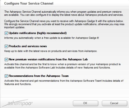 Configure Service Channel