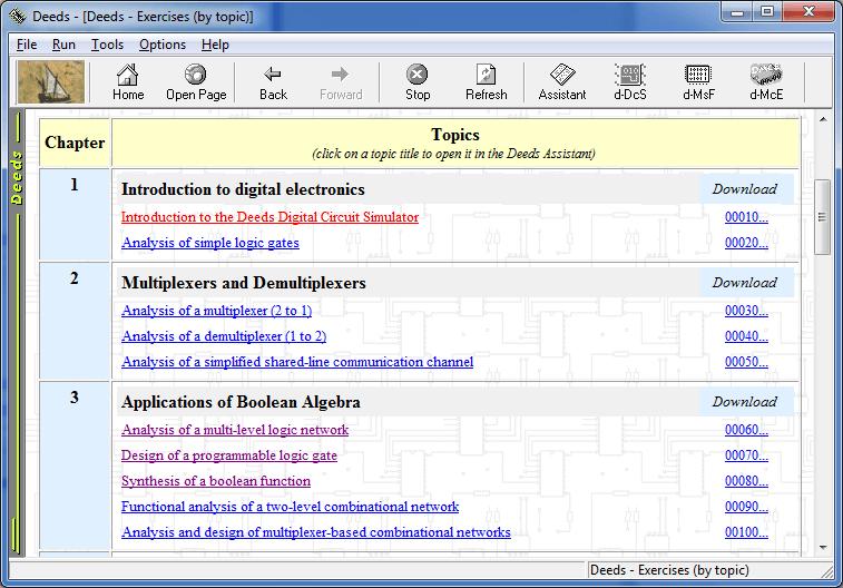 Deeds main browser