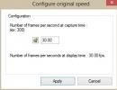 High-speed camera settings