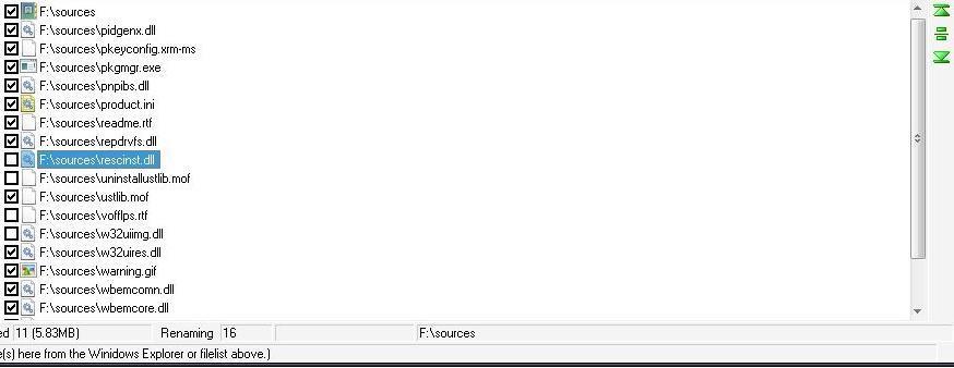 Multiple files renaming