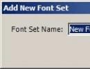 Adding a new font set
